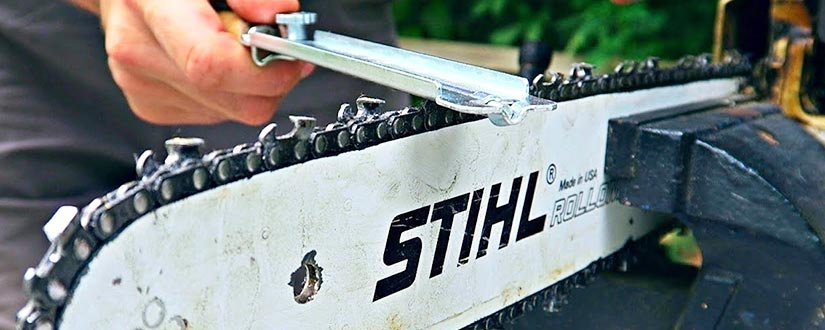 Learn how to sharpen your chainsaw