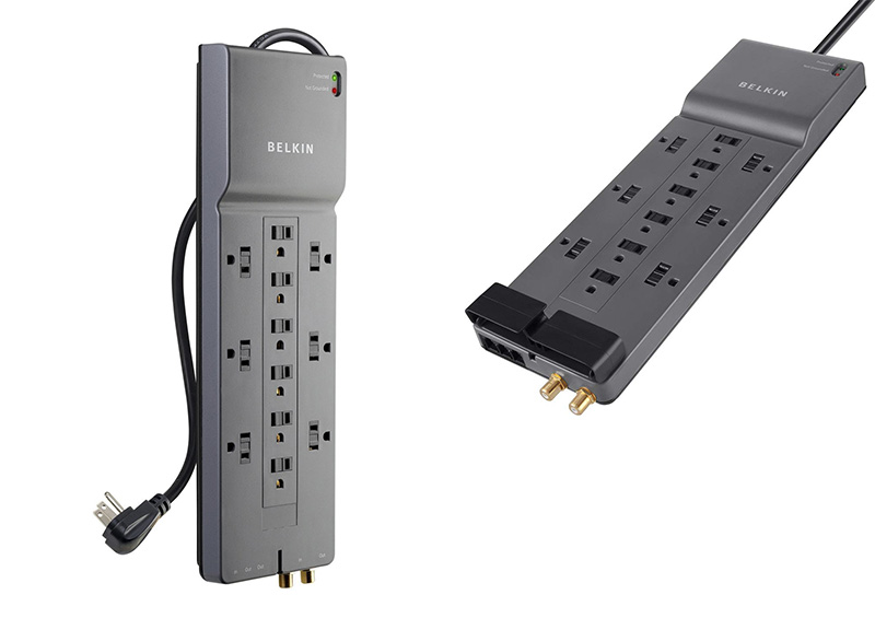 Belkin 12-Outlet Power Strip Surge Protector 3,940 Joules