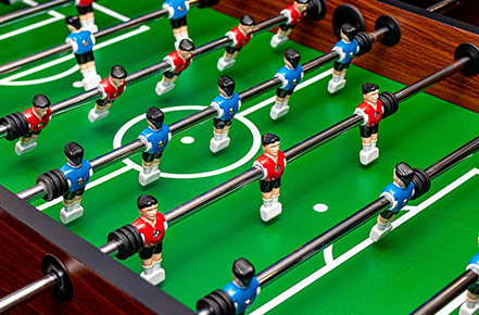 Foosball Table Setup
