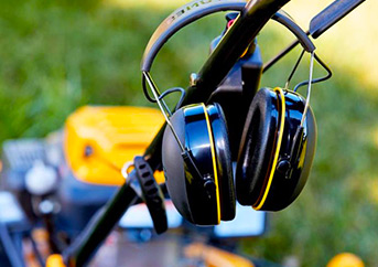 Hearing Protection for Lawn Mowing